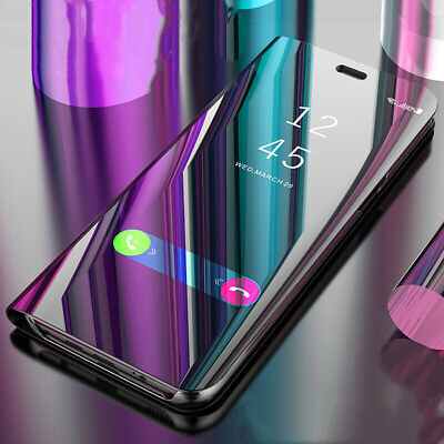 For Samsung Galaxy A50 A30 A70 A40 A20E Smart Clear View Mirror Flip Case Cover