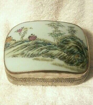 Antique Chinese Vintage Box silver plated
