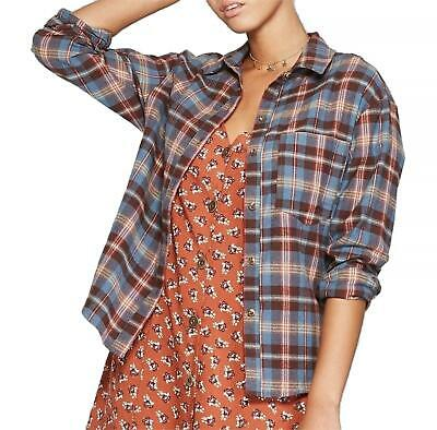 54a7ae6c WILD FABLE WOMEN'S Plaid Sleeveless Flannel Button Down Red Shirt ...