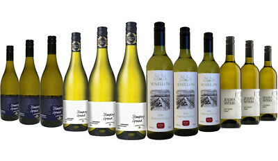 Guaranteed to Impress Premium White Wine Mixed 12x750ml RRP$259 Free Shipping