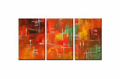 Large Framed Colorful Abstract Oil Painting On Canvas Wall Art Modern Decor A305