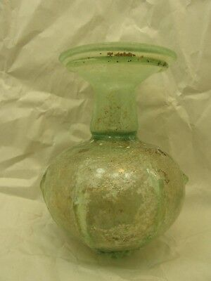 Very Rare 5 Inch Ancient Roman Pomegranate Form Glass Bottle Shaker Flask