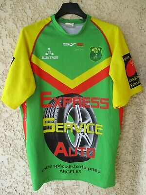 Maillot rugby ESA SOREDE ALBERES XIII porté n°15 shirt made in France XL