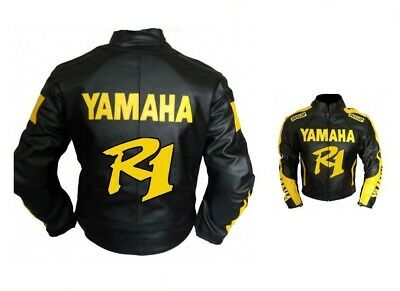 Yamaha Motorcycle Leather Jacket CE Approved Full Protection Male