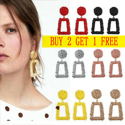 Fashion Punk Gold Metal Dangle Earrings Jewelry Geometric Big Drop Earrings HOT