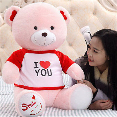 Huge cute Pink Teddy Bear Plush kids Stuffed soft Toy doll Christmas Gift 45cm