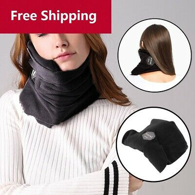 Airplane Flight Travel Neck Support Pillow Scarf Cushion Head Rest
