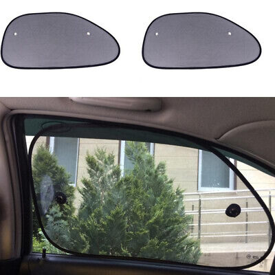 2 X Car Sun Shades Pair UV Protection Mesh Sun Blind Window Shade 38cm-64cm