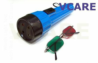 Worth 4 Dot test Torch Type portable with Red & Green Glasses