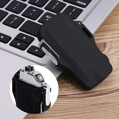 Mini Dual Arc Electric USB Lighter Rechargeable Flameless Windproof With Torch