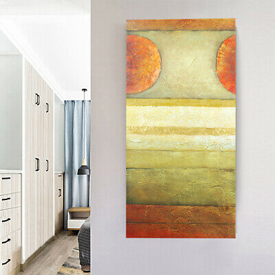 Abstract Art Oil Painting Stretched Canvas Hand Painted Home Wall Decor Framed