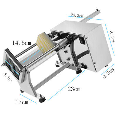 Profession Electric Potato French Fry Fruit Vegetable Cutter Machine+3 Blades CE