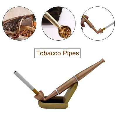 Durable Pipe Smoking Tobacco Cigar Pipes Cool Gift & Stand Holder Present