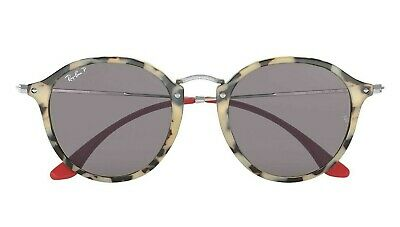 a4f6c4015 POLARIZED NEW Genuine RAY-BAN ROUND FLECK Beige Havana Sunglasses RB2447  1247P2