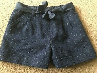 On Trend Girls Blue Glitter Fleck Shorts Age 2-3 Years by Nutmeg 92-98cm Party