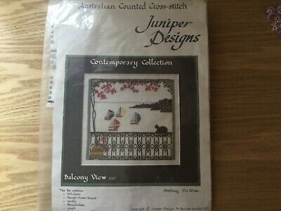 Juniper Designs Counted Cross Stitch - Balcony View