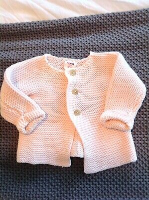 Seed baby girl pink cardigan knit