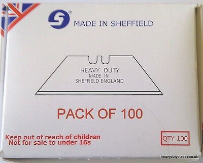 200 X Heavy Duty Blades Carpet Fitters  Fits Dolphin/delphin Made In Sheffield