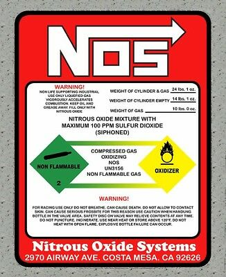 NITROUS OXIDE NOS OXYDE DRIFT TURBO ESSENCE JDM AUTOCOLLANT STICKER 80mmx60mm
