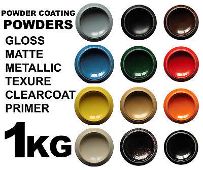 Powder Coating Paint Powder 1KG RAL Colors Gloss Matte Clearcoat Metallic Primer