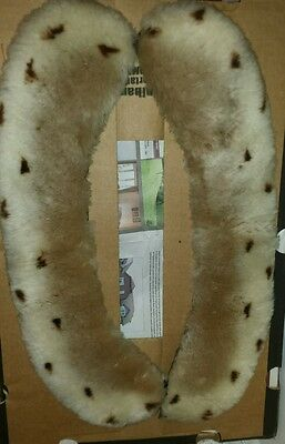 Vintage Sheepskin Collar spotted Ocelot print ? 2 pieces ? shoulders 20s 30s?