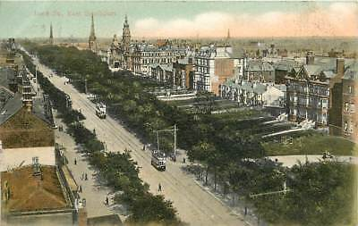 EAST SOUTHPORT LORD STREET, SHOWING TRAMS & TRACKS POSTCARD 1906 Shaw's Series