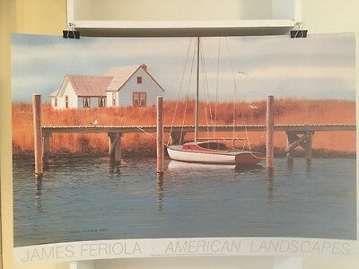 FINE ART LITHOGRAPH: Sail Boat By James Feriola 36 X 24