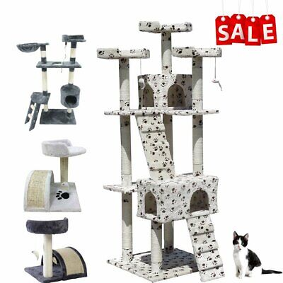 Multi  Size Cat tree Scratching Post Activity Centre Toys Scratcher Climbing Toy
