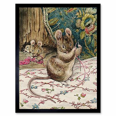 Helen Beatrix Potter The Mice At Work Threading The Needle 12X16 Framed Print
