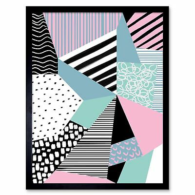 Minimalist Abstract Memphis Style Contemporary 12X16 Inch Framed Art Print