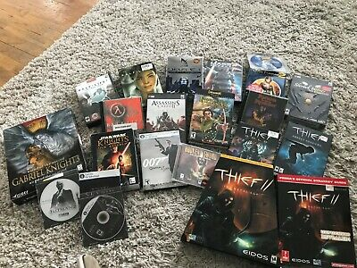 Lot of PC Games in Box - Half-Life Series Thief Series No One Lives Forever etc