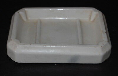 1920's Crescent Vitreous China Soap Dish Art Deco Ohio