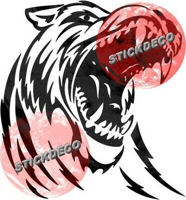 Sticker Autocollant Loup Tribal Stickers Vynil Auto Moto