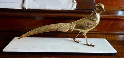 Art Deco Bronze Golden Pheasant On A Marble Base - More Photos Added