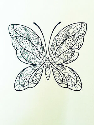 Digital Adult Colouring Pages  Butterfly - Download & Print Digital Pdf 35 Pages