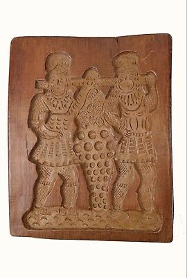 Antique C. 1880 Carved Speculaas or Spice Cookie Mold (or Mould), Dutch.