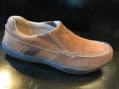 7b6638668d TIMBERLAND-SMART COMFORT-BROWN LEATHER-SLIP On-Mic-Driving Style ...