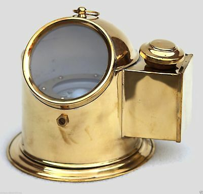 Brass Finish Style Nautical Binnacle Helmet Gimbelled Compass With Classy Shiny