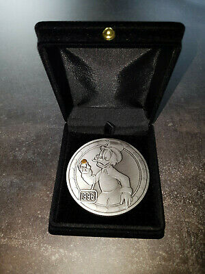 Extremely Rare! Walt Disney Scrooge McDuck First Gold Nugget LE of 500 Big Coin