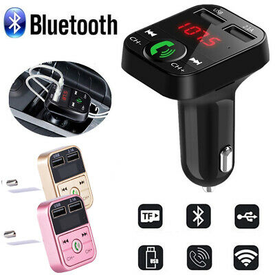 Bluetooth Wireless Radio Adapter Car FM Transmitter USB Charger Mp3 Player