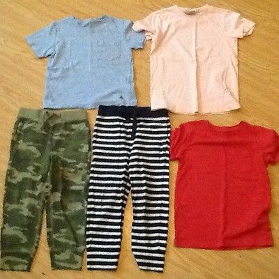 Gap Kids Tracksuit Bottoms, Age 4 Years Old, Plus 3 T Shirts.
