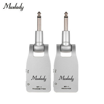 Muslady 2.4G Wireless Guitar System Transmitter & Receiver Rechargeable W1H7