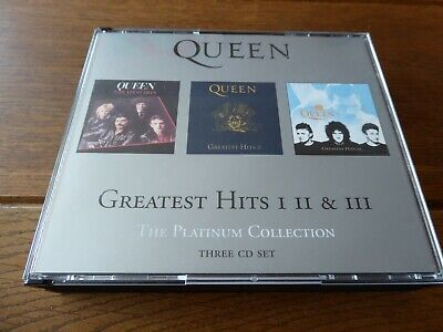 QUEEN The Platinum Collection Greatest Hits 3CD Fat Box EMI 51 tracks 2000