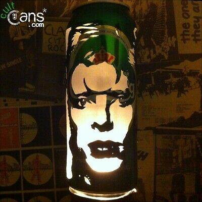David Bowie 'Ziggy Stardust' Beer Can Lantern! Pop Art Candle Lamp. Unique Gift!