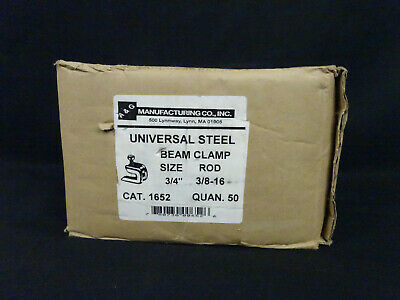 "Box of 50 A&G Universal steel beam clamp size 3/4"" Rod 3/8-16 cat.1652"