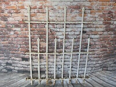 "Antique Cast Iron Fence Window Gate Garden Architectural Hardware 34"" W x 41"" T"