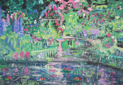 The Secret Garden: an original oil painting on canvas by Jenny Hare