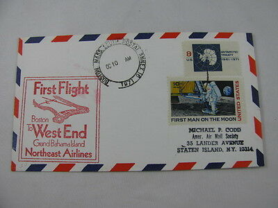FFC Flight Northeast Airlines Antarctic Man Moon Astronaut Boston Bahamas 1971