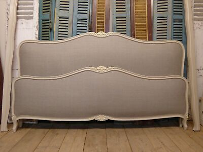 Very Large French Bed - 2m Wide - New Upholstery - hc83