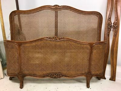 Vintage Cane French Double Bed - g111